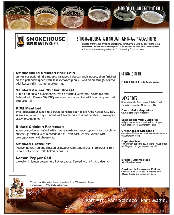 Smokehouse Banquet Buffet Menu