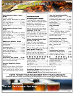 Barley's Smokehouse Bulk BBQ Barbecue Menu